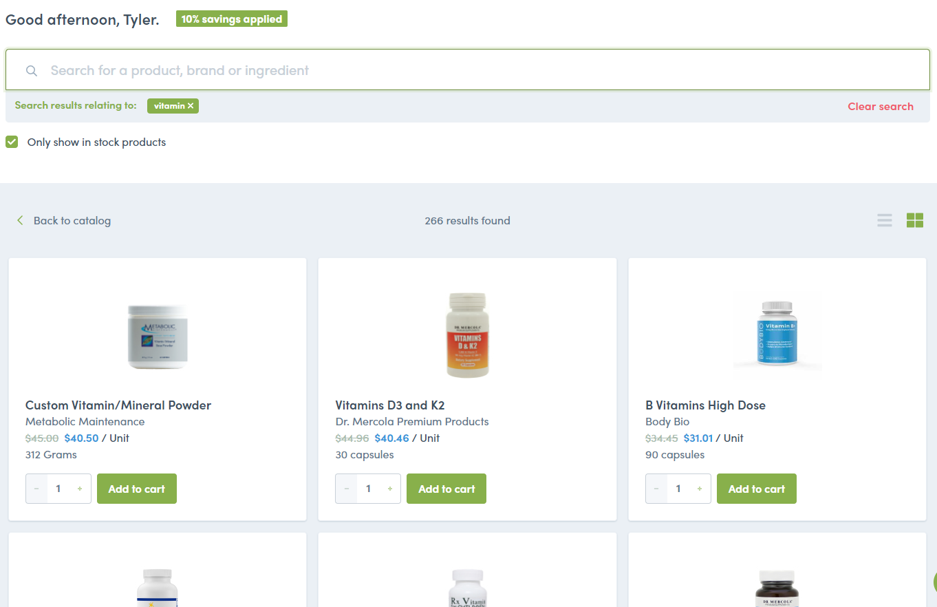 vitamin products access
